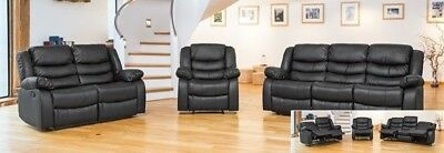 Beautiful Leather Reclining sofas in 3, 2 and 1 - NEW!