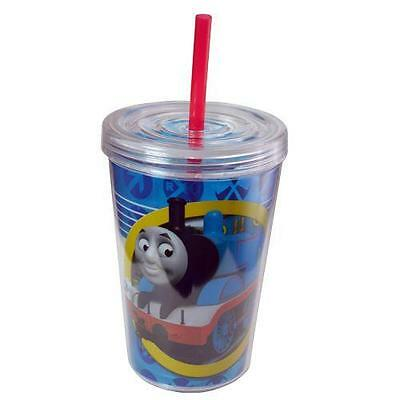 Thomas Train TUMBLER with Straw 13 Oz. BPA Free Licensed Travel cup mug by ZAK