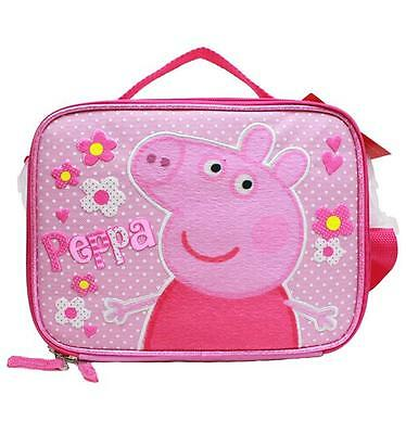 Peppa Pig Insulated Pink Lunch Box Bag Authentic Licensed New with Tags
