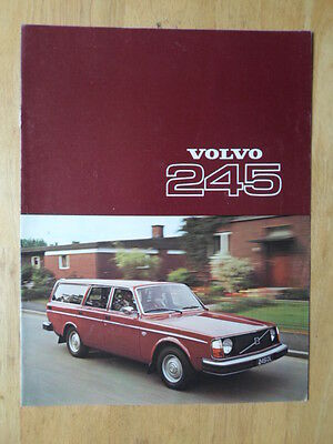 VOLVO 245 ESTATES 1977 UK Mkt Sales Brochure - DL DLE
