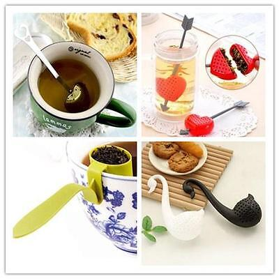 Quality Loose Tea Leaf Strainer Herbal Spice Silicone Filter Diffuser esus