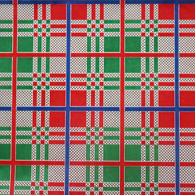 Printed Tissue Paper - Red Plaid Pattern - 240 Sheets