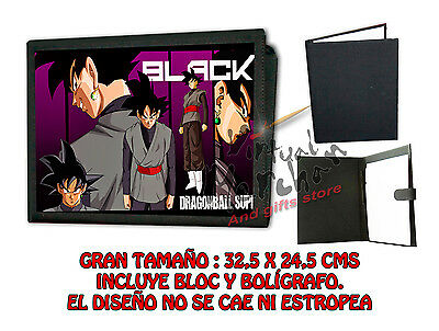 CARPETA SUPER BLACK GOKU DRAGON BALL Z LONETA NEGRA FOLDER bloc es
