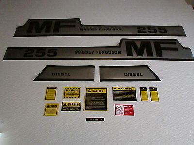 Massey Ferguson 255 decal set with caution kit