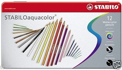 STABILO Aquacolor Pencils Gift Tin *2 Sizes 12's or 36's * Watercolour Pencils