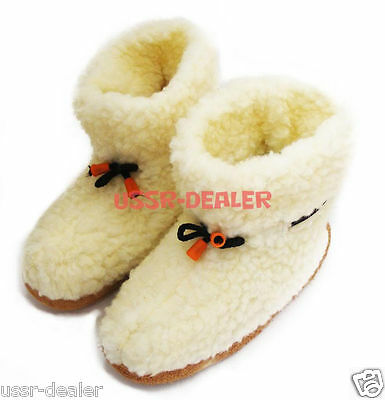 where to buy attractive price cute cheap AUTHENTIC MEN'S SHEEPSKIN Sheep Wool Slippers White Boots ...