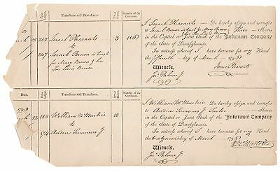 1790 Insurance Co. of the State of Pennsylvania Stock Certificate Sheet No. 110