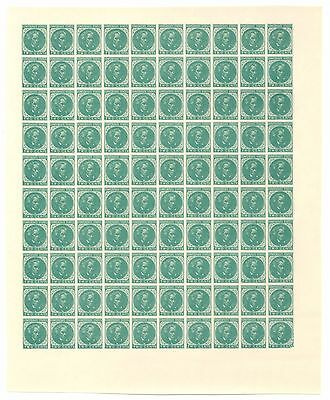 Confederate Unused Two Cents Stamp Sheet, 1862-64 CSA #14, Green [2672.04]