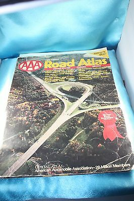 """Vintage 1988 Road Atlas Map  United States Mexico Canada 15""""x 11""""!"""