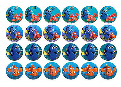 24 Finding Dory Nemo Edible MINI WaferPaper Cupcake Cup Cake Toppers Images