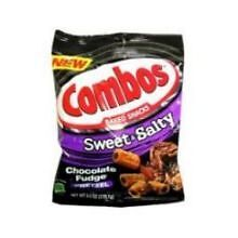 Combos Sweet Salty Chocolate Fudge Pretzel Baked Snacks, 6 Ounce -- 12 per case.