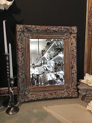 French Antique Style Bevelled Edge Mirror