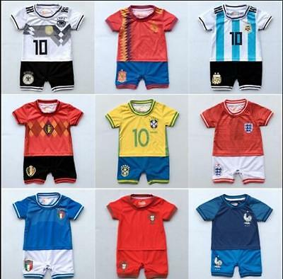 New season baby  toddler soccer jersey romper jumpsuit  size 0, 1,2