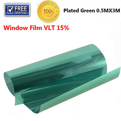 """20"""" x 10ft Roll Plated Green Window Film Tinting 15% VLT Privacy Car Auto Office"""