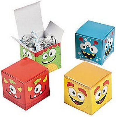 Pack of 12 - Monster Halloween Small Gift Boxes