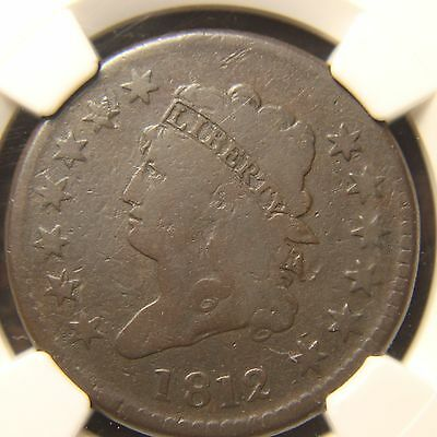 1812 Classic Head Large Cent, S-288, Large Date, VG-8