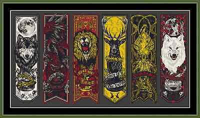 Game Of Thrones House Banners Sigils Cross Stitch Kit