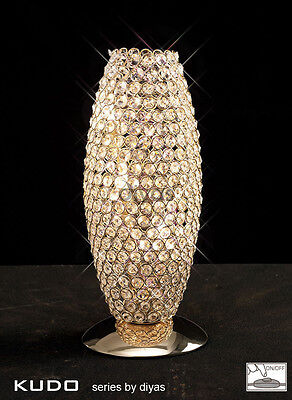 Kos Table Lamp 3 Light French Gold & Crystal