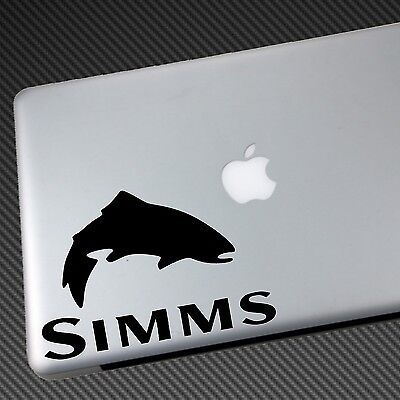SIMMS VINYL STICKER CAR DECAL shirt hat vest waders boot fishing fly jacket sage