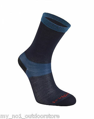 Bridgedale Women's Everyday Outdoors Coolmax Liner Socks (2 Pairs) - Navy Blue