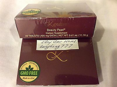 Sunrider Kandesn Beauty Pearl Dietary Supplement 28 Tablets ( 420mg Each )