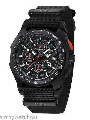 KHS Tactical Watches Chronograph C1-Lighting Date Stopwatch Army Strap Germany