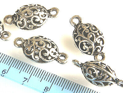 10 x Tibetan Style Linking Rings Links Donuts 17mm Antique Silver  LF MBX0094
