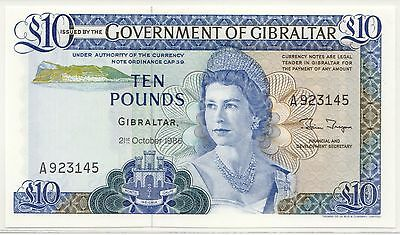 Gibraltar P#22b 1986 10 Pounds PCGS MS-64 PPQ World Bank Note [471.14]