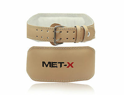 Meteor Leather Weight Lifting Belts 6inch Wide, Training Belts S,M,L,XL,XXL TAN