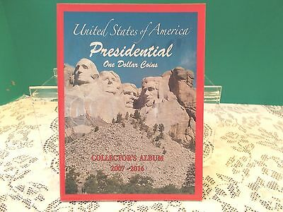 New! U.S. Presidential One Dollar Coins Collector's Album  2007-2016