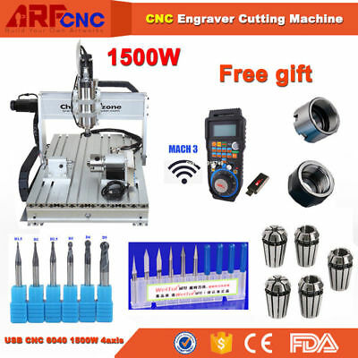 USB MACH3 CNC Router 6040 4-Axis Engraving Carving Machine 220V Germany Stock