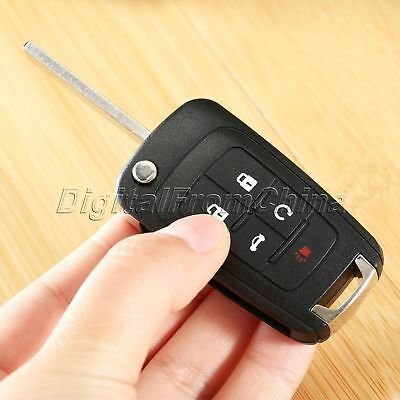 Folding Flip 5 Button Key Shell Case Fob Replacement Remote Fit For CHEVROLET