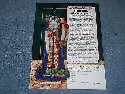 1987 Franklin Mint's Guardian of the Crystal Vintage Wizard Ad
