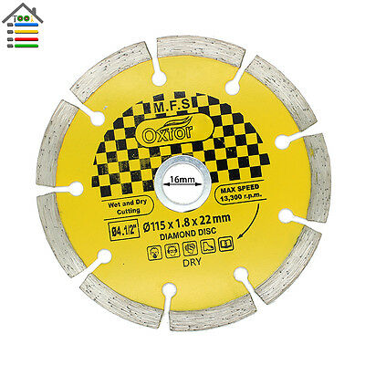 "115mm 4.5"" Tile Diamond Angle Grinder Grinding Stone Brick Concrete Cutting Disc"
