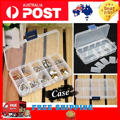 Storage Case Box With 10 Compartment For Nail Art Tips