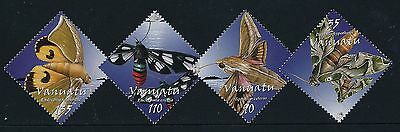 2003 Vanuatu Moonlight Moths Set Of 4 Fine Mint Mnh/muh