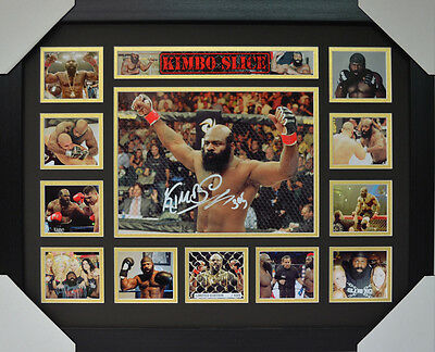 Kimbo Slice Signed Memorabilia Framed Limited Edition #a