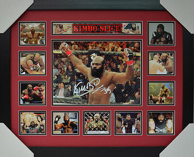 Kimbo Slice Signed Memorabilia Framed Limited Edition #d