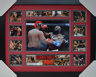 Kimbo Slice Signed Memorabilia Framed Limited Edition V2 #c