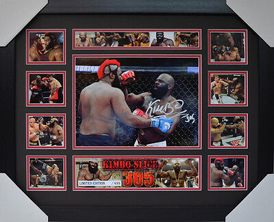 Kimbo Slice Signed Memorabilia Framed Limited Edition V2 #d