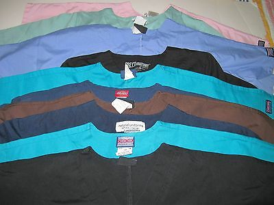 Womens  Lot Of Scrub Tops  10 Solid Tops    Size  Sm (Box 341)