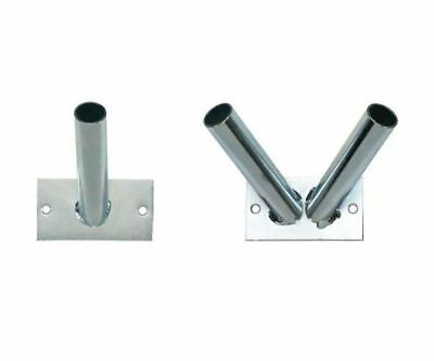 Stainless Steel Flag Pole Holder Wall Mounted Bracket Plated Flagpole Flags
