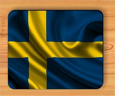 FLAG SWEDEN COUNTRY MOUSE PAD -fvc5Z