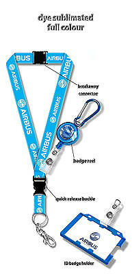 Airbus Logo Dye Sublimation Lanyard + Badge Reel
