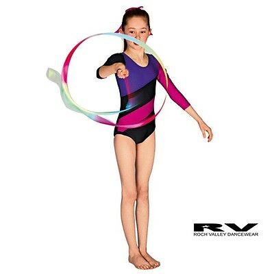 New Roch Valley Gymnastics/dance Leotard All Sizes Nylon/lycra Long Sleeved