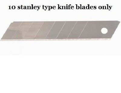Stanley type 18mm Snap Off Blades pack of 10 quality blades for decorators