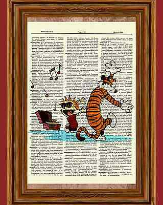 Calvin and Hobbes Dictionary Art Print Book Page Picture Poster Party Dance