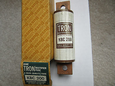 Bussmann KBC200 Rectifier Fuse 200 Amp 600V NEW!!! in Factory Box Free Shipping