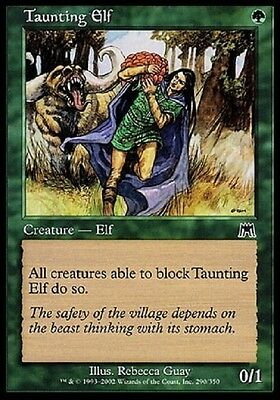 Magic Elfo Provocatore - Taunting Elf Common Green Onslaught Ons Mtg