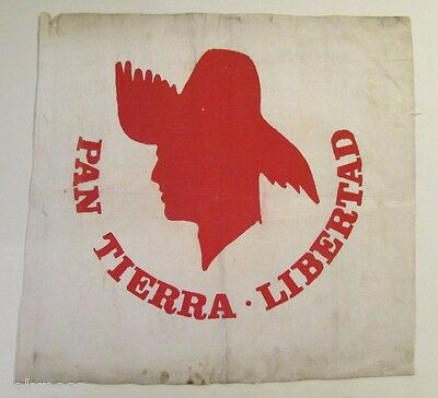 VINTAGE PPD / POLITICAL PARTY CLOTH FLAG / 1970's / PUERTO RICO #1